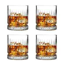 More details for whisky glass gift set of 4 large tumbler heavy crystal glass wine & whisky 355cc