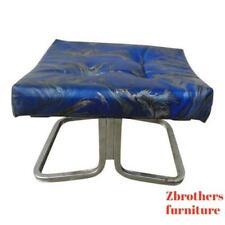 vintage mid century tie dyed marbleized foot stool Ottoman stool