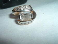 Vintage Art Deco Cubic Zirconia Ring Size 9 In Ring Box