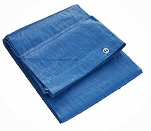 7' x 10' BLUE POLY TARP with Grommets 6 mil ** Free Shipping **