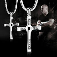 Collana Toretto FAST AND FURIOUS Uomo Croce STRASS Dominic VIN DIESEL