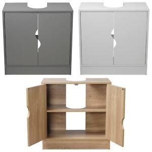 Flaminio Partial Pedestal Bathroom Sink Cabinet Under Cupboard Storage Furniture
