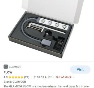 Glamcor FLOW Beauty exhaust fan and dryer LASH EXTENSIONS, NAIL FUME EXTRACTOR