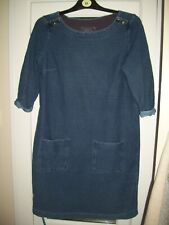 White Stuff women's denim blue winter dress.Size 14. Free Postage!