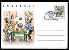 """NORWAY - NORVEGIA - Intero post. - 1984 - I conigli """"fornaio"""" - Illustrazione"""