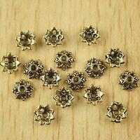 100pcs dark gold-tone flower spacer beads h2074