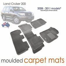 Suits Toyota Land Cruiser 200 3D Mats GREY Carpet Altitude VX Sahara 2006-2011