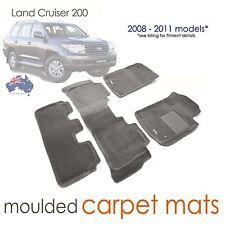 To suit Toyota Land Cruiser 200 series CARPET 3D Mats Sahara VX - 2008-2011