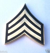 US ARMY RANK  E5 BUCK SERGEANT Military Veteran (DARK GREEN) Hat Pin 14426 HO