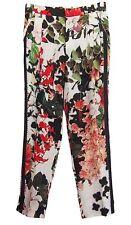 ROBERTO CAVALLI  Pants Eden Floral Print 100% Silk Size 42 US 6