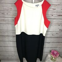 Shelby & Palmer Women's sleeveless Color Block Dress Size 20W