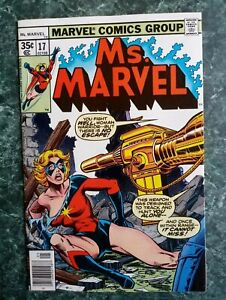 Ms. Marvel #17 VF KEY! 2nd Mystique Cameo (Disguised as Nick Fury) (1978 MARVEL)