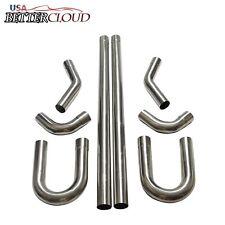 "2.5"" Stainless Steel T-304 DIY Custom Mandrel Exhaust Pipe Straight & Bend Kit"