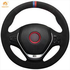 Suede Steering Wheel Cover for BMW F20 F45 F30 F31 F34 F32 F33 F36 14-17 #BM91