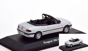 Peugeot 306 Cabriolet 1998 Argent Diecast 1:43 Minichamps Maxichamps