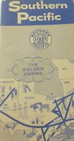Vintage Railroad Timetable SOUTHERN PACIFIC October 1957 Golden Empire Route E2