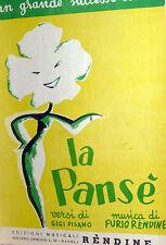 SPARTITO MUSICALE  LA PANSE' ANNO 1955 MANDOLINO-CANTO