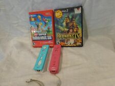 Playstation 2 & Nintendo Wii games & 2 Controllers Super Mario Bros & Romance 3