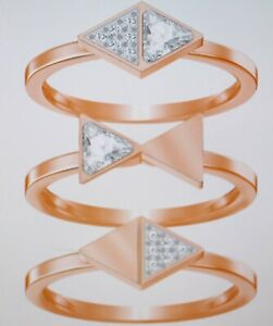 Swarovski Heroisn Ring Set Gr.55 Rose Gold Plated New with Box