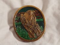 Vintage Peregrine Falcon Indiana Metal Craft Belt Buckle 1977