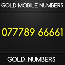GOLD MOBILE NUMBER MEMORABLE EASY VIP UNIQUE SIM 07778966661