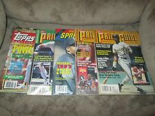 Lot of 5 Sports Card price guides from 1992 & 1993 in GREAT SHAPE!!!