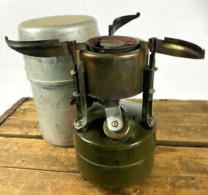 1964 Vietnam Era US Rogers M-1950 Single Burner Camp Gas Stove w/ Leysi Case