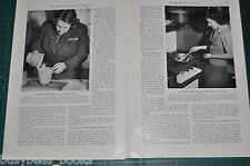 1947 LONDON England magazine article, city life after WWII shortages re-building
