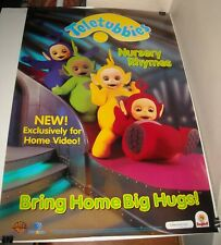 ROLLED 1998 TELETUBBIES NURSERY RHYMES VIDEO ADVERTISING PROMO POSTER 27 x 40