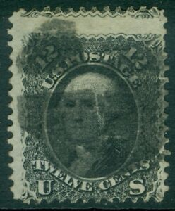 EDW1949SELL : USA 1868 Scott #90 Used. Sound stamp. PSAG Certificate. Cat $400.