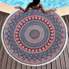 Indian Mandala Roundie Round Tapestry Gypsy boho Yoga Picnic Sheet Table Throw