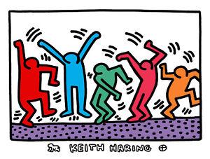 Keith Haring DANCING MEN 16x20 Giclee Pop Art Print **SALE