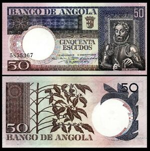 ANGOLA 50 ESCUDOS 1973 UNC But aUNC P-105