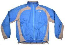The North Face Mens Blue Gray Grey Windbreaker Coat Outerwear Jacket SZ L