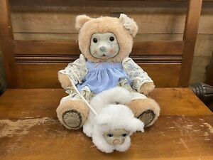 Robert Raikes Bear with Cat Doll