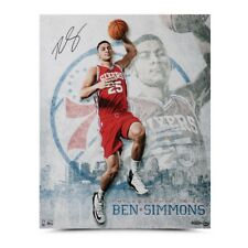 """Upper Deck Ben Simmons """"All Systems Go"""" Signed Auto 16x20 Philadelphia Sixers"""