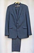 KENNETH COLE Reaction Men's BLUE Suit 42L Blazer Jacket & 36x32 Pants - GUC