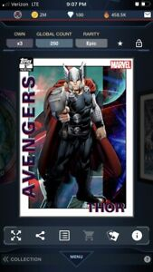 Topps Marvel Collect Avengers 1st Printing THOR 250cc EPIC Digital