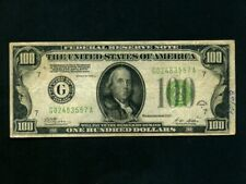 USA:P-424a,100$ 1928 * Redeemable in Gold * Franklin * VF- *