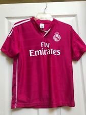 Real * Madrid Ronaldo #7 Soccer Jersey Girls- Youth Large Pink Fly Emirates