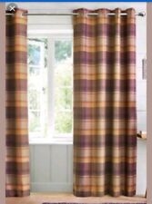 "NEXT Kingsley Woven Check Eyelet Curtains NEW 66""x90"