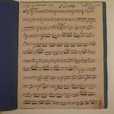Haydn Sinfonia 13, Viola parte, antico manoscritto di musica