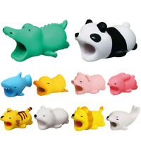 HB- KD_ JN_ Cartoon Animal Protector Cover For Cell Phone Headphone USB Charger