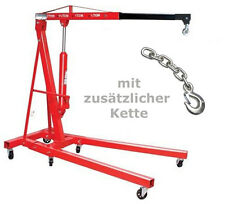 Motorheber Kran Motor Werkstatt 2.To Werkstattkran Wagenheber plus extra Kette