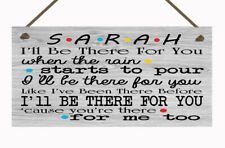 Personalised Friends Song Hanging Plaque Friendship Gift TV Show Any Name