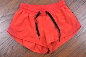"Lululemon Hotty Hot Short 2.5"" Alarming Red Women's 4"