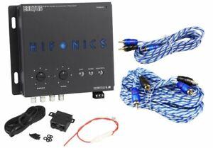 Hifonics BXIPRO1.0 Digital Bass Equalizer Sub Processor + 17' & 6' RCA Cables