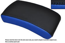 BLACK & ROYAL BLUE CUSTOM FITS YAMAHA XVS 650 DRAGSTAR REAR LEATHER SEAT COVER