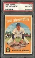 1959 TOPPS #169 TED ABERNATHY PSA 8 SENATORS  *K4742