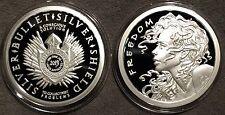 *2013 Freedom Girl Proof 1oz Silver 999 Coin Round COA SBSS AOCS - Wastweet*